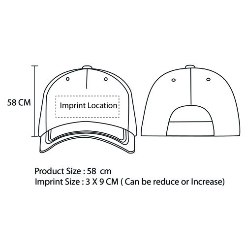 Tactical Camouflage Baseball Cap Imprint Image