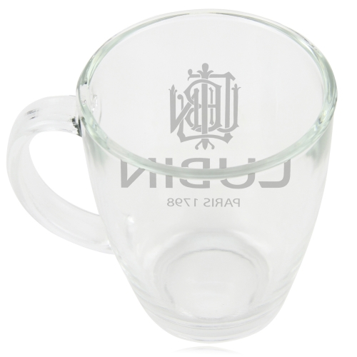 Frosted Bam Handled Glass Cup