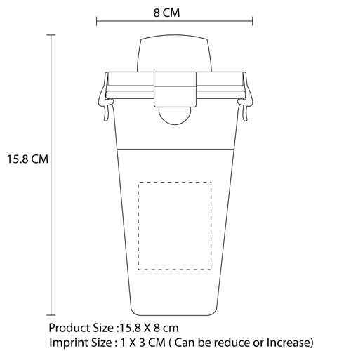 Buckle Shaker Glass Cup