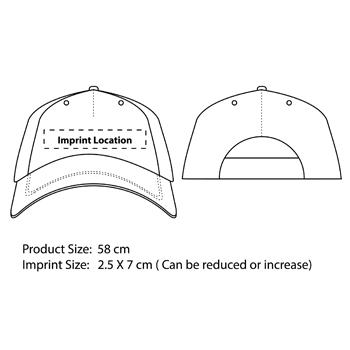 Two Tone Velcro Baseball Cap