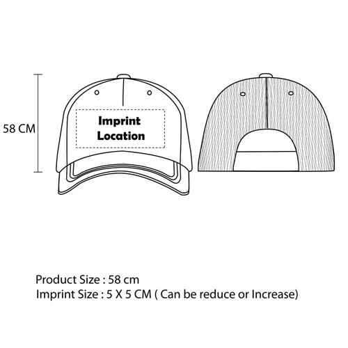 Mesh Trucker Cap Imprint Image