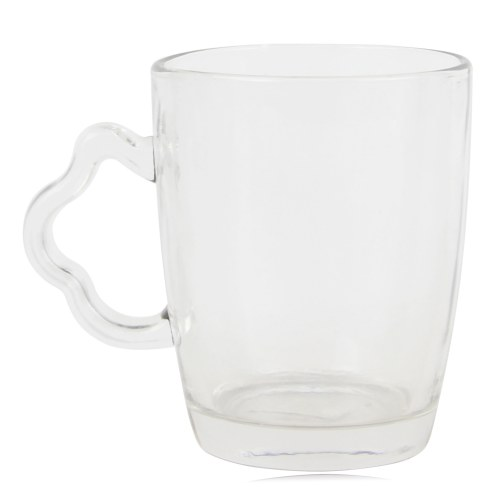 Clear Exquisite Handled Glass Cup