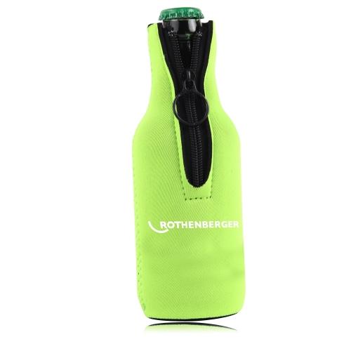 Premium Collapsible Zipper Bottle Koozie