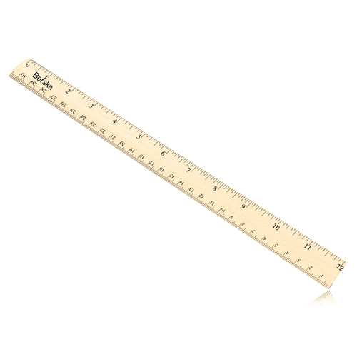 30cm Measuring Beechwood Craft Ruler Image 2