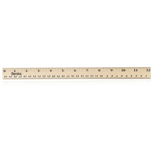 30cm Measuring Beechwood Craft Ruler Image 4