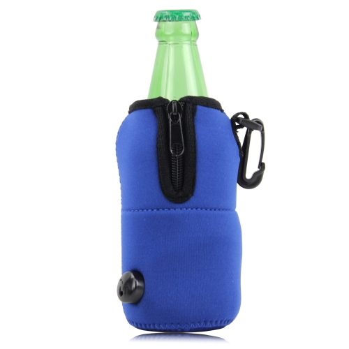 Zipper Koozie Cooler With Hook