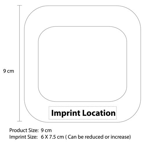 Eva Squrare Coaster Mat Imprint Image