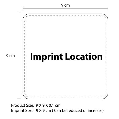 Absorbent Paper Coaster Mat