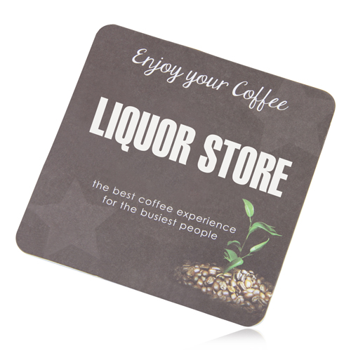 Square Absorbent Paper Drink Coaster Image 1