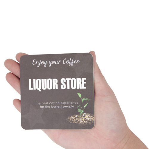 Square Absorbent Paper Drink Coaster Image 4