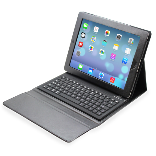 Folio Leather Case with Bluetooth Keyboard