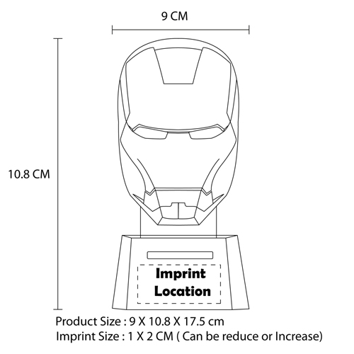Talking Iron Man Resin Piggy Bank
