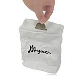 Crushed Paper Box Piggy Bank