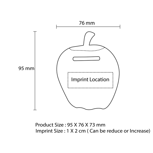 Cute Apple Shaped Coin Bank Imprint Image