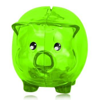 حصالة نقود شفافة على شكل خنزير