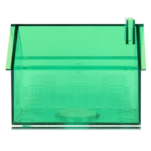 Translucent House Shaped Coin Bank Image 1