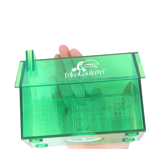 Translucent House Shaped Coin Bank Image 3