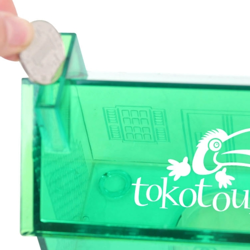 Translucent House Shaped Coin Bank Image 6