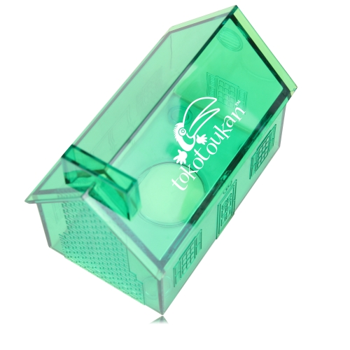 Translucent House Shaped Coin Bank Image 8