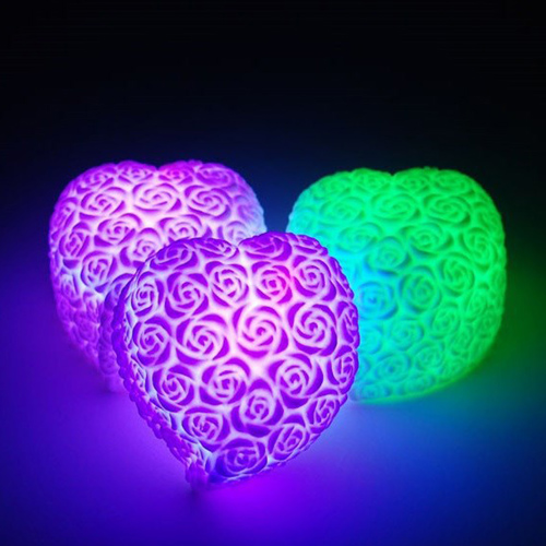 Romantic Rose Heart Color Changing Light