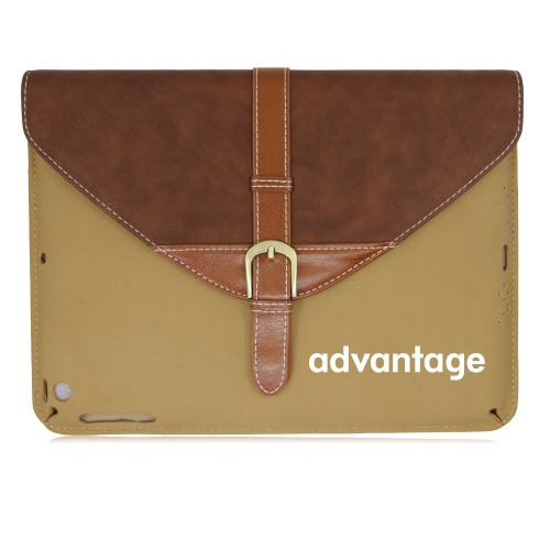 iPad Leather Sleeve With Belt Buckle Image 1