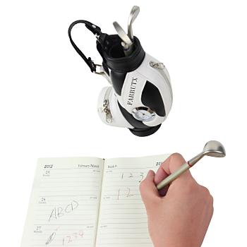 Golf Caddy Bag Pen Holder Clock