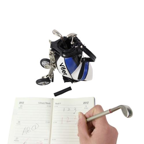 Miniature Golf Caddy Bag Pen Holder Set