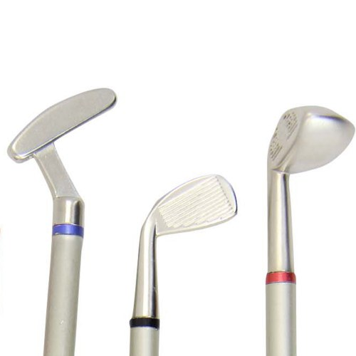 Golf Club Style Pens With Ball Set