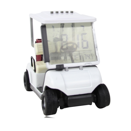 Golf Cart With LCD Alarm Desk Clock