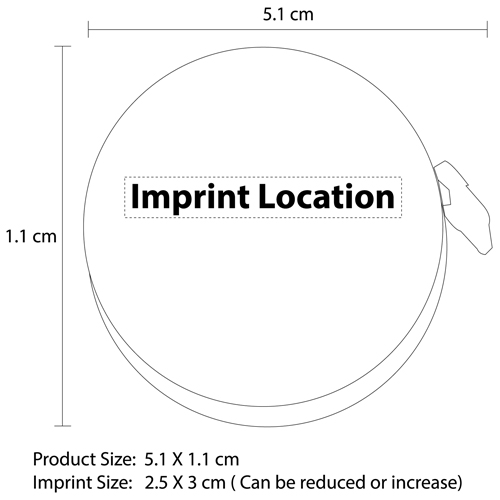 Ritzy Rounded Measuring Tape Imprint Image