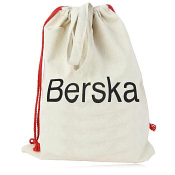 Drawstring Handled Canvas Tote Bag