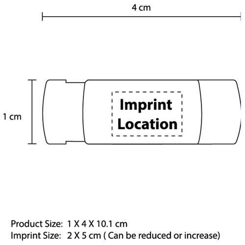 Plastic Case Adhesive Bandages Imprint Image