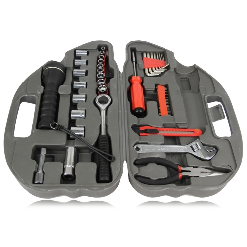 36-Piece Car Shaped Tool Kit Image 1