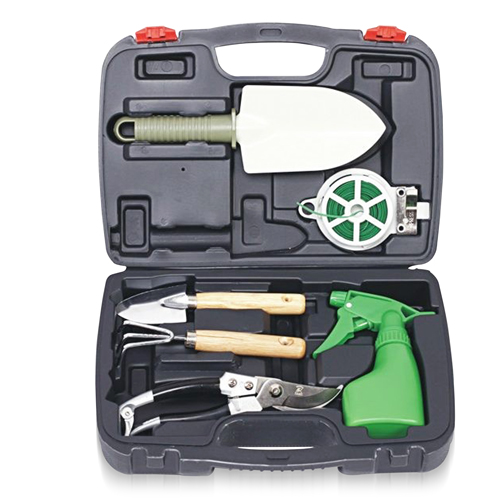 6-Piece Garden Tool Set With Case
