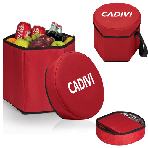 Collapsible Cooler Stool Bag Image 4