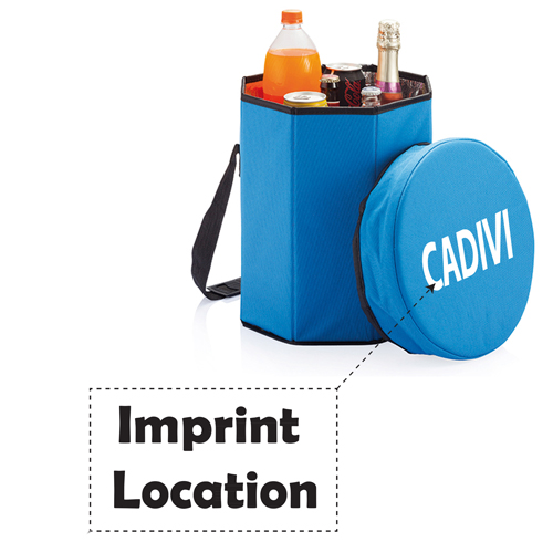 Collapsible Cooler Stool Bag Imprint Image