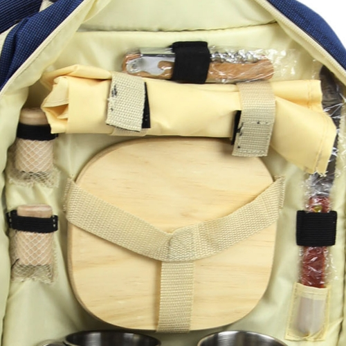 Luxury Picnic Backpack For 4 Image 5