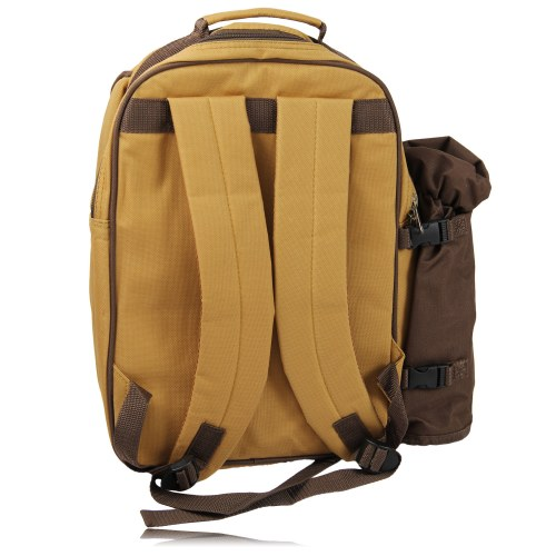 4-Person Picnic Backpack With Bottle Holder