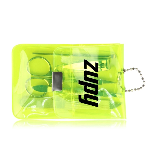 Manicure Set In Transparent Pouch Image 1
