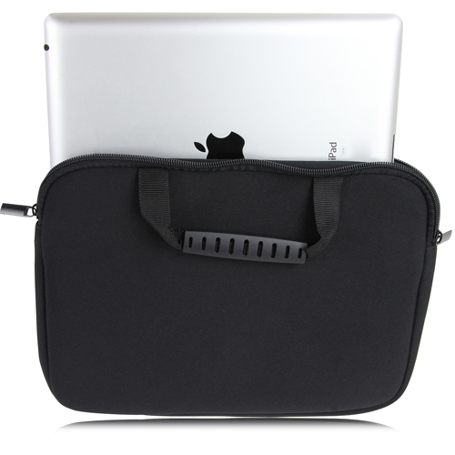 10 Inch Handle Neoprene Zippered Tablet Bag Image 4