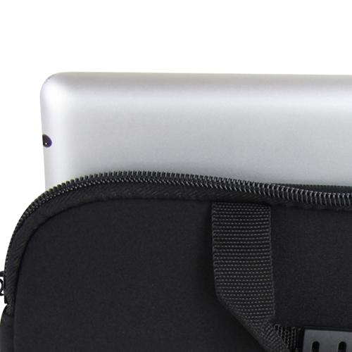 10 Inch Handle Neoprene Zippered Tablet Bag Image 8