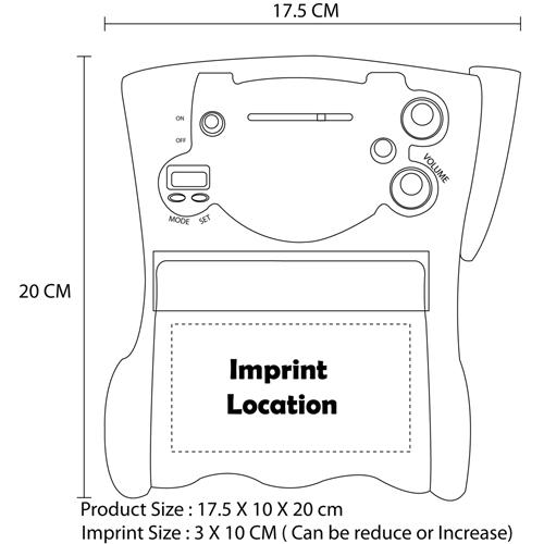 Toilet Roll Holder Radio Clock