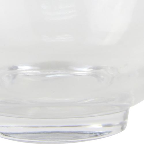 Medium Sphere Cut Angled Glass Bowl