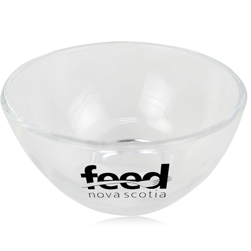 Small Sphere Cut Transparent Glass Bowl