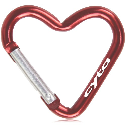 GlossyHeart Shaped Carabiner Keychain