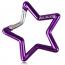 Star Shaped Carabiner Keychain