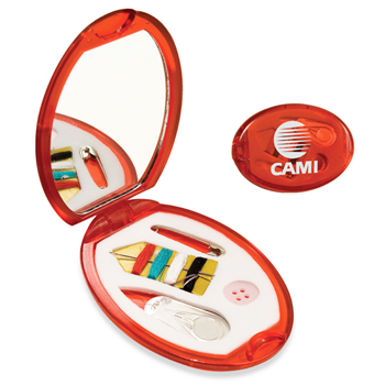 Travel Compact Sewing Kit With Mirror