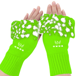 Ladies Fur Fingerless Knitted Gloves