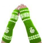 Womens Acrylic Fingerless Long Glove