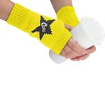 Logo Pattern Fingerless Knitting Gloves